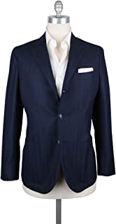 Barba Napoli Navy Blue Solid Wool Blend Sportcoat