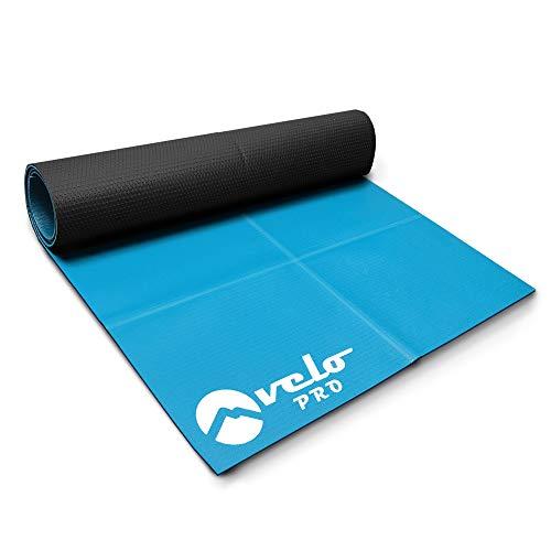 Velo Pro Tapis d'exercice - Tapis de fitness antidérapant multi-usages et protection de sol pour vélo d'appartement, tapis de course, Turbo et Cross Trainer