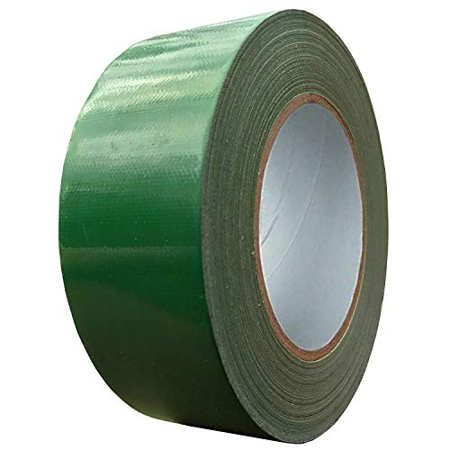 Exa Duct Tape 1.88 Inches x 60 Yards, Duct Tape for Crafts, Extra Strength, No Residue, DIY, Repairs, Indoor Outdoor Use, Book Repair, Must Have Garage Tool (1.88 X 60 Yards) (Dark Green)