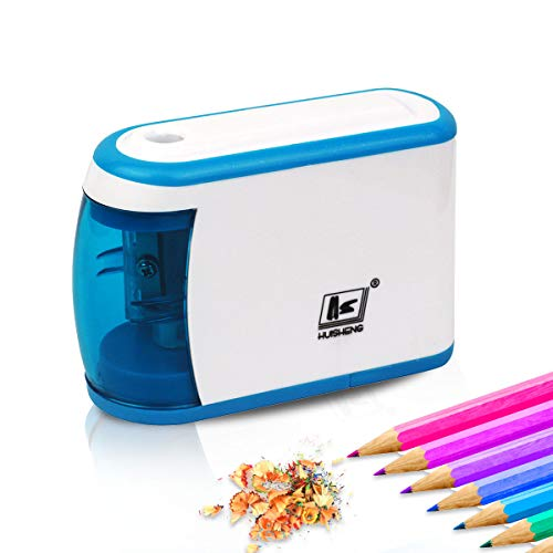 Electric Pencil Sharpener,SUTOROO Battery Powered Fast Sharpen to Prevent Accidental Opening Can Automatic Stop,Mini Cute Pencil Sharpener Manual,Suitable for Students/Artists/Classroom/Office-Blue