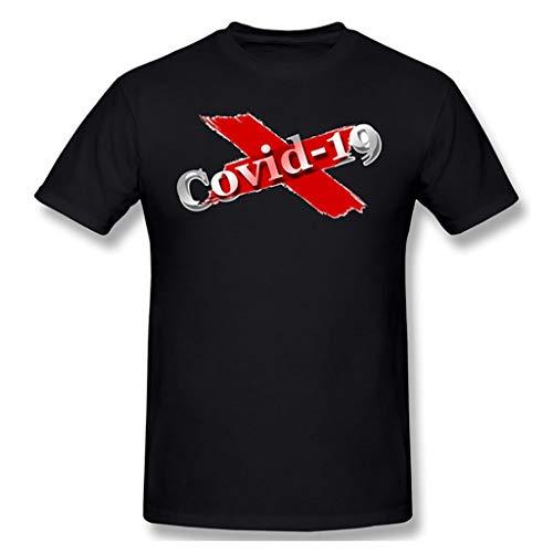 Rugby clothing boutique Q 2020COVID-19 Camiseta de quedarse en casa for Detener la aparición de Manga Corta Camiseta de coronavirus (Color : AN-04, Size : S)