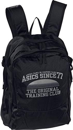 Asics Training–Mochila de entrenamiento, Talla Unica, Negro