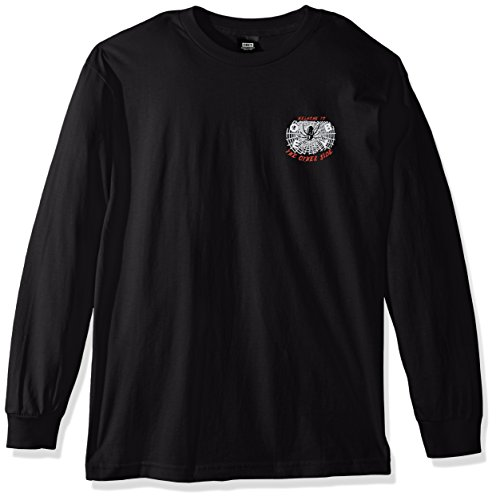 Obey Men's Welcome to The Other Side Long Sleeve Tee, Black, XL