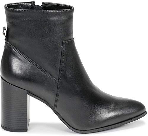 BULLBOXER Damen Stiefeletten, Frauen Ankle Boots, feminin elegant Women's Women Woman Freizeit leger Stiefel halbstiefel Damen,Schwarz,41 EU / 8 UK