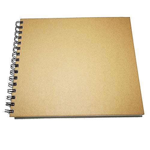 Eachgoo Bloc de Dibujo A4, Espiral Encuadernación Cuaderno de Dibujo con Tapa Dura 120 gsm 60 Hojas Apaisado