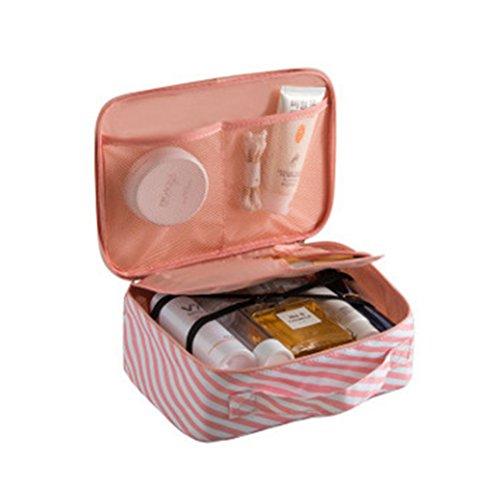 Coque Générique Femmes à Pois Multifonction Sac de Voyage Cosmétiques Sac Étui Pochette Trousse de Toilette Maquillage Organisateur Rose 2