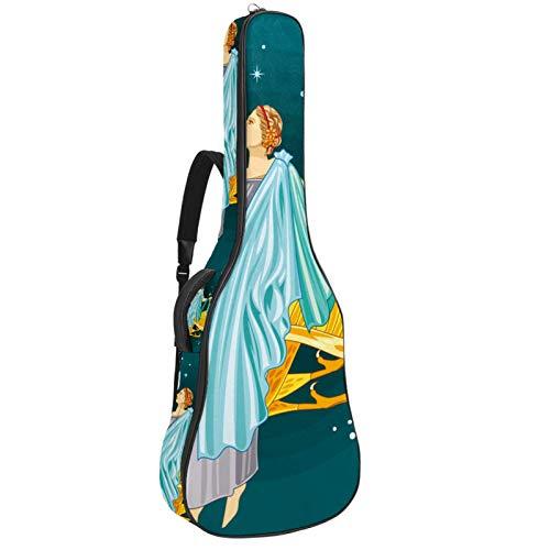 Bolsa para guitarra impermeable con cremallera, suave para guitarra eléctrica, bajo, acústico y clásica, para nacimiento de la diosa griega Afrodita