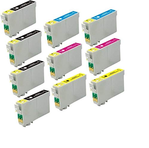 InkArt 69 Ink Cartridge Remanufactured for T069 Use in Stylus C120 CX5000 CX6000 CX8400 CX9400 NX115 NX215 NX305 NX400 NX410 NX415 NX515 Workforce 30 40 600 610 615 1100 1300 (10 Pack)