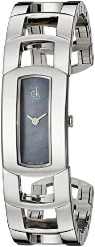 Calvin Klein K3Y2M11F - Reloj analógico de Cuarzo para Mujer con Correa de Acero Inoxidable, Color Plateado