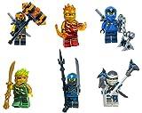 LEGO Ninjago Forbidden Spinjitzu Combo Pack (with Weapons) - Lloyd Zane Jay NYA Cole Kai
