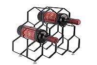 kitchenista portabottiglie da vino da 9 bottiglie stand - portabottiglie in piedi - design unico contemporaneo non è richiesto alcun montaggio