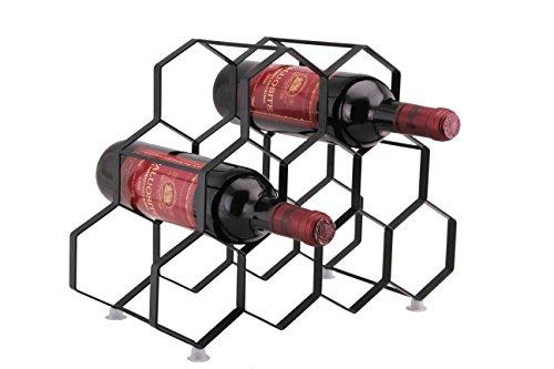 Kitchenista 9 Flaschen Weinregal Ständer - freistehender Weinflaschenhalter - Zeitgenössisches einzigartiges Design Keine Montage erforderlich