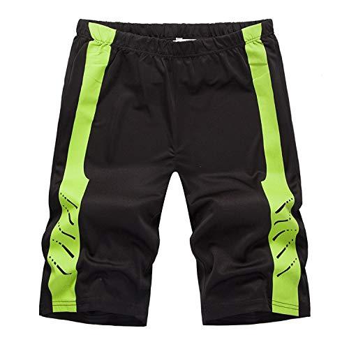 Men's Sexy Lichtgewicht Afdrukken toevallige borrels strand broek mode Katoen Lengte Sport (Color : Black, Size : 2XL)