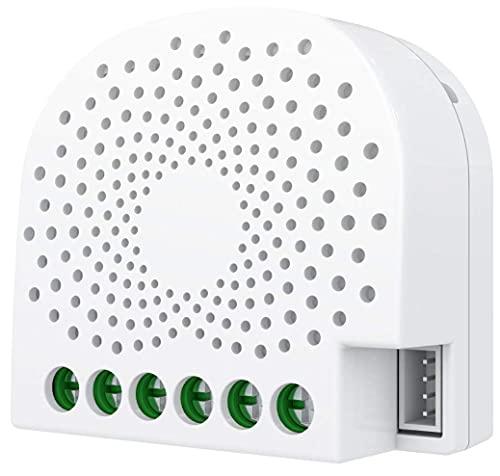 Aeotec Nano ON off Controller con Misurazione della Potenza, Z-Wave Plus in-Wall Smart Switch per Domotica, ZW116 10A Neutro richiesto, Funzion, 0.8 W, 240 V, White, 1.7 x 1.6 x 0.8 inches