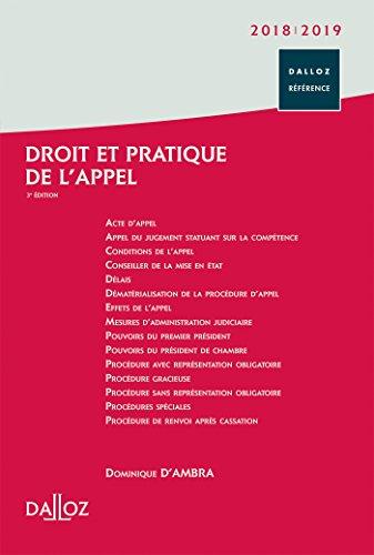 Droit et pratique de l'appel 2018/2019 - 3e éd.
