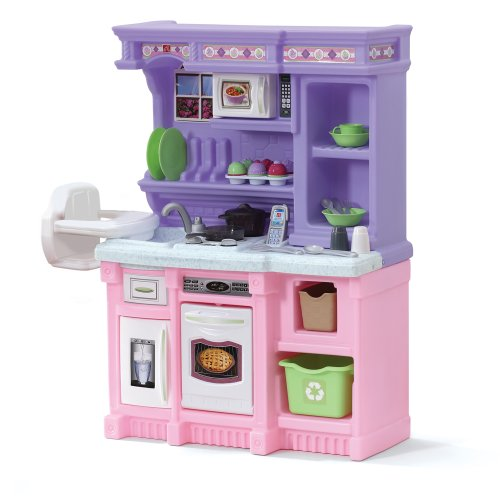 Step2 Little Baker's Kitchen | Pink & Purple Play Kitchen with Baking Set | Toy Kitchen Baking Set Included