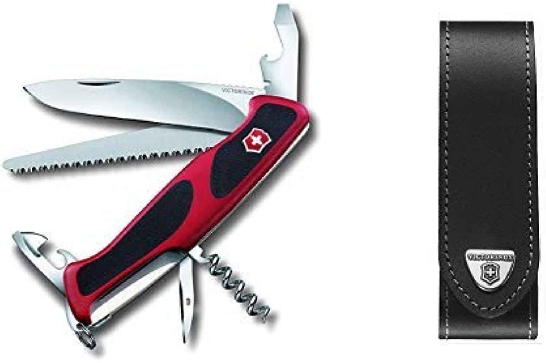 Victorinox Taschenmesser Ranger Grip 55 55 55 (12 Funktionen, Feststellklinge, Säge) rot schwarz & Victorinox V4.0506.L Mantel schwarz, One Größe B07PRB85FF  Ausgewählte Materialien b52da2