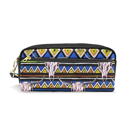 Étui à stylo Fixe Rayure Tribal Cerf Crâne Motif Crayon Sacs Pochette Portable pour Enfants Enfants Cosmétique Sac Maquillage Beauté