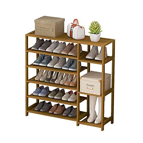 Zapatero Multilayer Bambú Zapato Rack Entrada Zapato Estante de zapatos Almacenamiento Organizador de zapatos Soporte de zapato para el dormitorio Closet Habitación de dormitorio Estante de zapatos