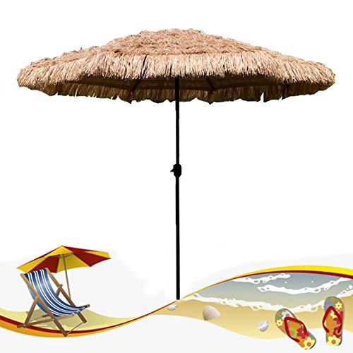 HXFAFA Sombrilla Jardín y Terraza with 8 Costillas Desmontable y Manivela de Apertura Fácil Parasol de Jardín para Jardín Terraza Patio Piscina y Playa (Sin Base)