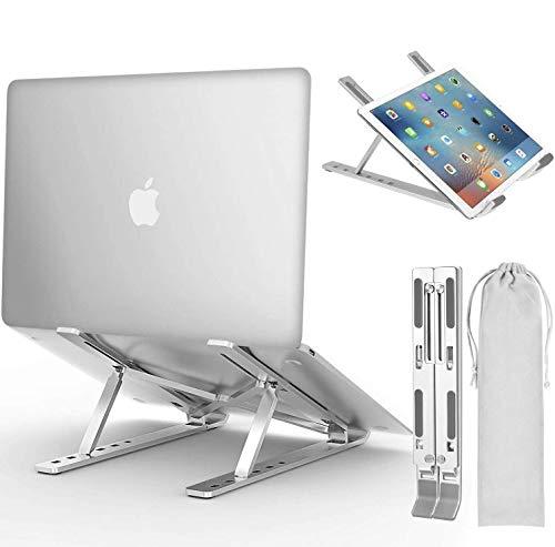 【期間限定】ノートパソコン スタンド ノートパソコンスタンド PCスタンド タブレット スタンド mac スタンド タブレット スタンド ノートパソコン スタンド ノートパソコン 台 スタンド ノート持ち運びに便利 優れた放熱性 ノート PC/iPad/Macbook/Macbook Pro 8-17インチに対応 40KG荷重 銀色 軽量 角度調整 姿勢改善