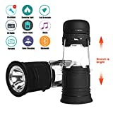 Camping Lantern Best 5 in 1 Solar and USB Rechargeable LED Camping Lantern...