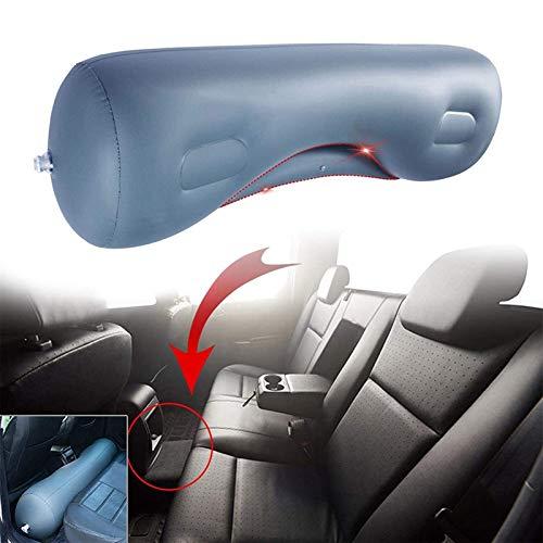 Cojín de asiento trasero del colchón inflable del viaje del coche, 130x40cm colchón de coches almohadilla de almohadilla de almohadilla de aire, asiento trasero universal cama de inflación, estabilida