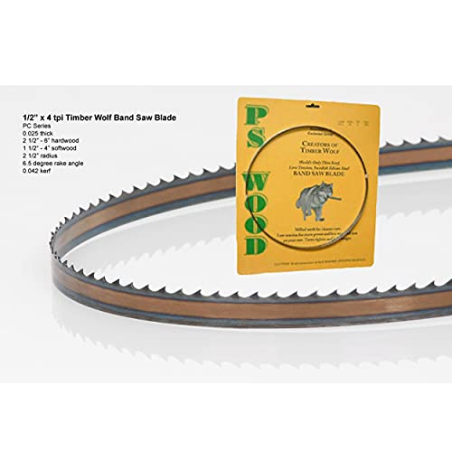 Timber Wolf Bandsaw Blade 1/2' x 93-1/2', 4 TPI