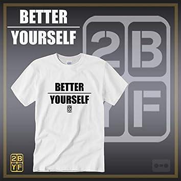 2BYF White T Blacc Logo