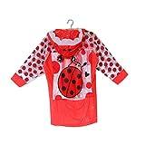 ZWYM Vêtements imperméables Imperméable Gonflable pour Enfants avec enveloppes de Livres Mode Manteau de Pluie pour Enfants coréens Version Épaissir ÉtudiantsManteaux de Pluie-Red_L