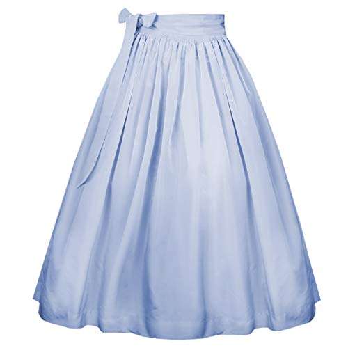 Hammerschmid Damen Trachten-Mode Dirndlschürze in Hellblau, Größe:S, Farbe:Hellblau