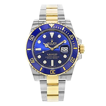 Fashion Shopping Rolex Submariner Blue Dial Stainless Steel and 18K Yellow Gold Bracelet Automatic