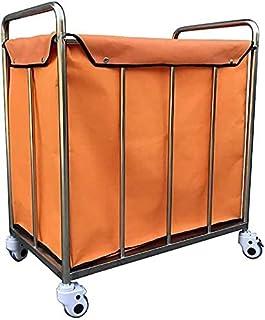 Panier à linge robuste avec poignée sur roulettes et sac de rangement amovible