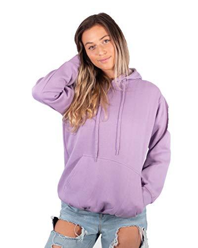 Men's Heavy Blend Fleece Hooded Sweatshirt (Lilac, Large)