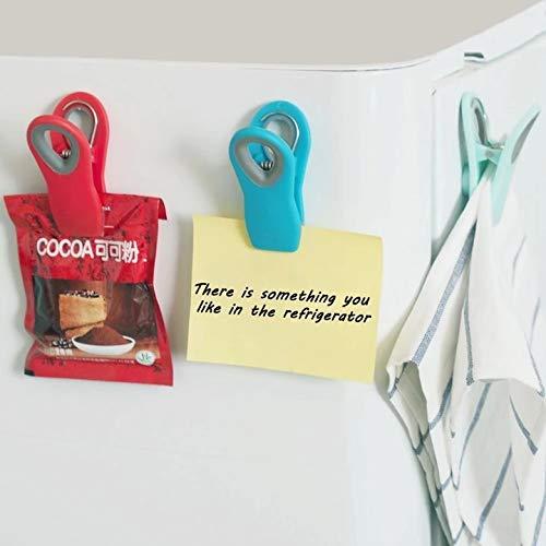 D88, Nuevo magnético sellado clip imán nevera almacenamiento alimentos Snack Seal bolsa clips refrigerador mensaje post herramientas de cocina