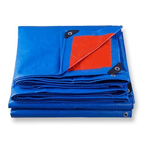 Uitstapje Udstyr,Groot dekzeil regendicht Heavy Duty Blue PVC Tarp Garden Gazebo luifel partytent met stevige aluminium ogen en kunststof versterkte hoeken, ideaal voor kamperen en buiten gebruik, Kejin 6*10m