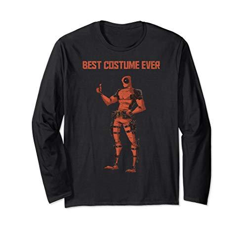 Marvel Deadpool Best Costume Ever Portrait Long Sleeve T-Shirt