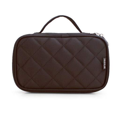 Bolso cosmético de las mujeres con espejo doble impermeable organizador de viaje Cosmetólogo caso multifunción bolsa de maquillaje rombo casos