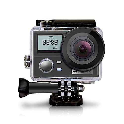 Mengen88 Cámara de acción Deportiva 4K, videocámara FHD 1080P Ultra HD, cámara Impermeable WiFi con ángulo de visión Amplio de 170 Grados, Control Remoto de 2.4G, para Caminatas, natación, esquí