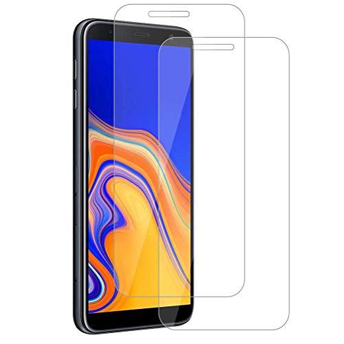 Mkej [2 Stück] Panzerglas-Folie kompatibel mit Samsung Galaxy J4 Plus 2018 - Blasenfrei Panzerglas Pro Schutzfolie, HD Panzerglasfolie 9H Festigkeit, Anti-Kratzen Panzerfolie, 3D Touch Bildschirmschutzfolie