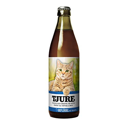 Tjure - Flüssigfleischnahrung Geflügel Doppelpack 2 x 220 ml. Die Spezialnahrung für nierenkranke Katzen | Lebensmittelqualität