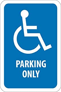 NMC TM155J Handicap Parking Sign, Legend