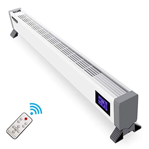 Aidasone 1800 W Heaters Electric for Home Low Energy Skirting Panel Heater - Most Popular Style Designer Look Convector Radiator - Free Stand - met thermostaat/timer/Remote Control