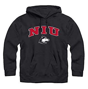 Campus Colors Adult Arch & Logo Soft Style Gameday Hooded Sweatshirt  Northern Illinois Huskies - Black Medium