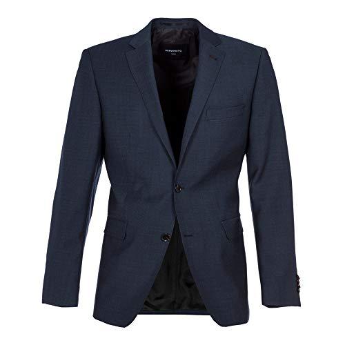 Benvenuto Black - Modern Fit - Herren Baukasten Sakko aus Super 100\'S Schurwolle, Romeo (20826, Modell: 62100)