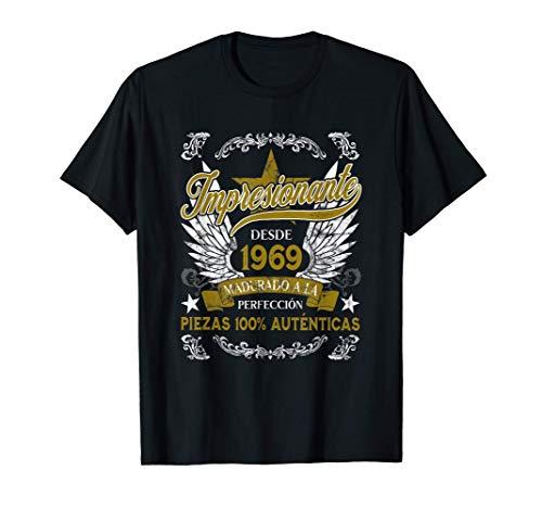 Hombre Impresionante Desde 1969 Madurado A La Perfección Cumpleaños Camiseta