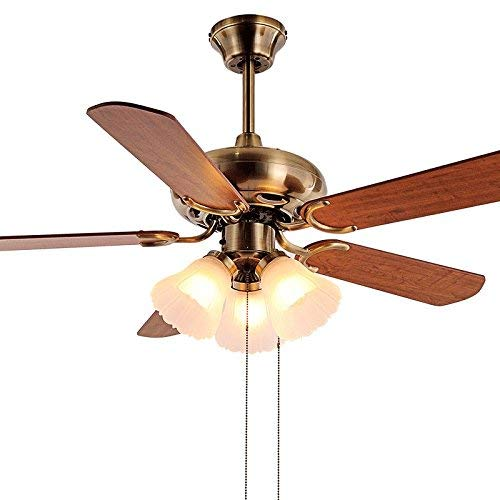 YLCJ 49,21 inch, onzichtbaar, elektrisch, ventilator, plafondventilator, eenvoudig, met lamp voor eetkamer, eetkamer, slim ventilator, hanger, licht, slaapkamer, lampen