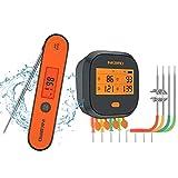 Inkbird WiFi Grill Thermometer IBBQ-4T & Instant Fast...