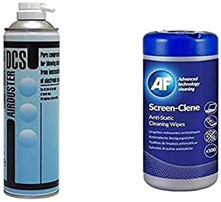 DCS Spray Duster 400ml Aerosol Airduster Plus PC- Cleaner PC & Laptop - 100 Tub Wipes