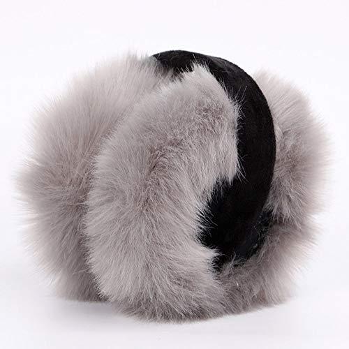 ZHENGBINGF Mode Ohrenschützer Für Frauen Marke Winter Ohrenschützer Warme Fell Ohrenwärmer Ohr Abdeckung Für Mädchen Einfarbig Niedlichen Ohrenwärmer Weichem Plüsch, grau